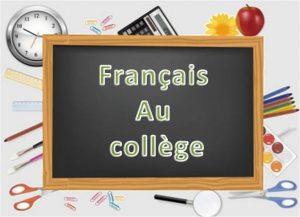 programme scolaire de Français au collège