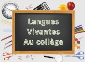 Programme scolaire de langues vivantes au collège