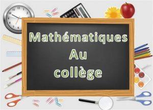 Programme scolaire de Mathématiques au collège